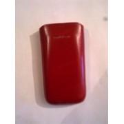 Червен калъф за SonyEricsson Vivaz от естествена кожа