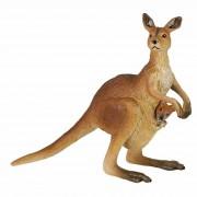 Papo Plastic kangoeroe met baby speeldiertje 8 cm