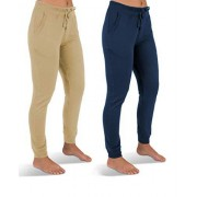 Sexy Basics 2 Sudaderas de Forro Polar para Mujer, 2 Pack- Warm Sand/Sailor Blue, XL