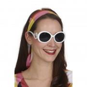 Merkloos Witte verkleed zonnebril rond voor dames