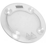 Rorian Thick Tempered Glass Electronic Digital Personal Bathroom Health Body Weight Machine Digital (White) 2003A (Transparent) Weighing Scale(White)