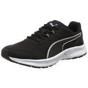 Puma Men's Descendant V4 Sl Black-Silver Running Shoes - 10 UK/India (44.5 EU)