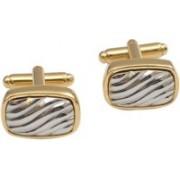Alvaro Brass Cufflink Set(Gold, Silver)