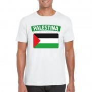 Shoppartners Palestijnse vlag shirt wit heren