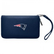 Little Earth NFL Pebble Zip Organizer Wallet Beige New England Patriots