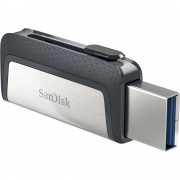 SANDISK stick USB flash Type-C 64 GB USB3.1 Ultra dual drive gri