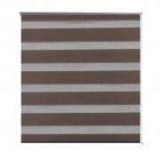 vidaXL Zebra Blind 120 x 230 cm Coffee