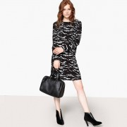 LA REDOUTE COLLECTIONS Kleid mit Camouflage-Muster, Rückenausschnitt