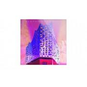 "Höffner Glasbild ""Hamburg Elbphilharmonie"" ¦ lila/violett ¦ Maße (cm): B: 20"