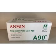 Anmin A90+ 3 laags mondkapje | OV mondmasker | wegwerp | niet medisch | 50 stuks.