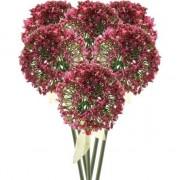 Bellatio flowers & plants 6x Roze/rode sierui kunstbloemen 70 cm