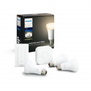 Philips Hue starter kit - White - E27 (3 lampen + bridge + dimmer)