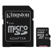 Kingston microSDXC Canvas Select 80R CL10 UHS-I +SD, 64GB