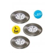 Näve Außen-LED-Strahler, 3er-Pack, (A++ bis A)