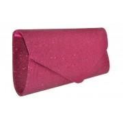 GLORIUSS Torebka kopertówka ciemno różowa amarant - Różowy