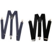 Homeshopeez Y- Back Suspenders for Men, Boys(Blue, Black)