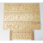 GoAppuGo Alphabet and Number Writing Practice boards - Wooden Educational toys for kids 3 years or 2 or 4 years old, Learning Wooden toys for Toddlers