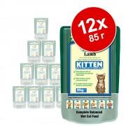 12х85г Kitten James Wellbeloved, консервирана храна за котки, с пуешко