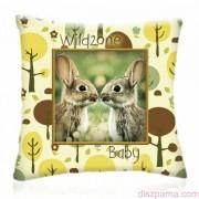 WILD ZONE Baby NYUSZIK állatos díszpárna 28x28 cm