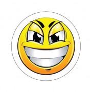 Shoppartners Ondeugende Smiley sticker type 7