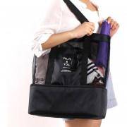 Bolsa De Playa Con Huecos De Color Solido E-Hot Para Mujer - Negro