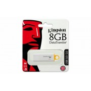 Pendrive, 8GB, USB 3.0, KINGSTON DTI G4, sárga (UK8GDT4)