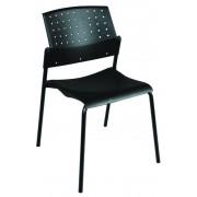 Lucca Nero Colorplast fémvázas szék műanyag ülő- és hátlappal