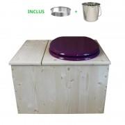 Toilette sèche - La Bac violet prune inox