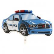 "Rendőrautó, kék, nagyforma fólia lufi, 31"""