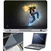 Finearts Laptop Skin Dance Fire With Screen Guard And Key Protector - Size 15.6 Inch