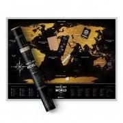 """Скреч Карта на Света """"Black Deluxe Edition"""""""