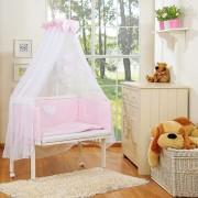 My Sweet Baby Aanschuifwieg Babywieg Set Two Hearts Roze