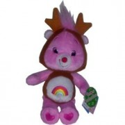 """New Care Bears ~ Holiday Friends Cheer Bear with Reindeer Antlers 8"""" Plush"""