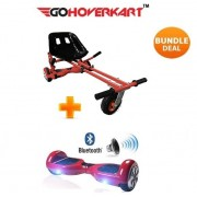 "Monster Hoverkart and 6.5"" Bluetooth Hoverboard Daytona Red Go Monster Bundle"