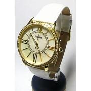 Luxusní ocelové zlacené dámské hodinky Foibos 1K93B voděodolnné 5ATM