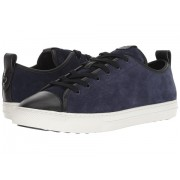 COACH Mixed Material Cap Toe C121 Low Top Sneaker Pilota Black