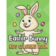 Easter Bunny Kids Coloring Book: Bunny Juggling Eggs Cover Color Book for Children of All Ages. Green Diamond Design with Black White Pages for Mindfu, Paperback/Greetingpages Publishing