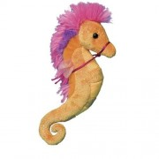 """Tangerine and Pink Sea Horse 6"""" by Douglas Cuddle Toys"""