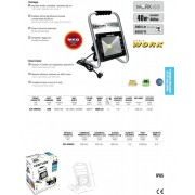 FARETTO LED - WORK 40 - 40W=400W
