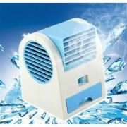 Right traders Mini Small Fan Cooling Portable Desktop Dual Bladeless water Air Cooler USB