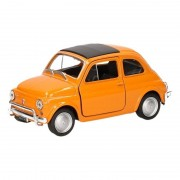 Fiat Speelgoed oranje Fiat 500 classic auto 1:36