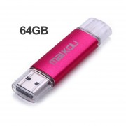 Metal Colorido 32G Mobile OTG USB Flash Drive USB 2.0 Micro Pen U Disco