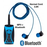 100% Waterproof Stream MP3 Music Player with Bluetooth and Underwater Headphones for Swimming Laps, Watersports, Normal