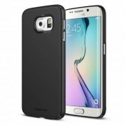 Husa Protectie Spate Ringke Slim SF Black + folie display pentru Samsung Galaxy S6 Edge Plus