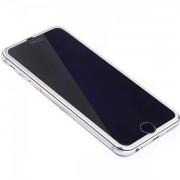 Folie Sticla Securizata Curbata 3D rama Metalica Silver iPhone 7