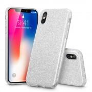 ESR iPhone 8 hoes glitter zilver chique design zacht TPU
