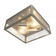 QAZQA Moderne vierkante buitenplafondlamp staal 2-lichts - Rotterdam