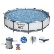 Bestway 366x76cm fémvázas medence 1,25m3/h vízforgatóval 56416 Steel Pro Max