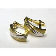 Mohutné zlaté náušnice v kombinaci zlata (půlkruhy) 585/1,2gr S080
