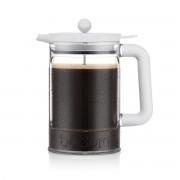 Bodum BEAN Cafetière à piston, 12 tasses, 1.5 l, en plastique, avec deux couvercles Ombre